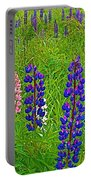 Lupine On Campobello Island-nb Portable Battery Charger