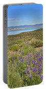 Lupines At Mono Lake Portable Battery Charger