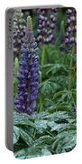 Lupines In The Rain Portable Battery Charger