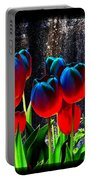 Lustrous Tulips Portable Battery Charger