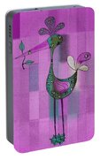 Lutgarde's Bird - 061109106-purple Portable Battery Charger