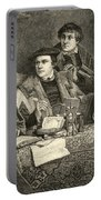 Luther Melancthon Pomeranus And Cruciger Translating  Portable Battery Charger