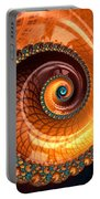 Luxe Fractal Spiral Brown And Blue Portable Battery Charger