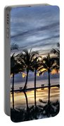Luxury Infinity Pool At Sunset Portable Battery Charger