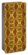Luxury Red And Gold Christmas Kaleidoscope Portable Battery Charger