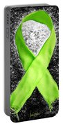 Lyme Disease Awareness Ribbon Portable Battery Charger