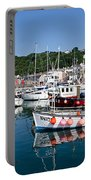 Lyme Regis Harbour On A July Morning Portable Battery Charger