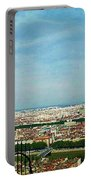 Lyon From The Basilique De Fourviere-color Portable Battery Charger
