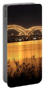 The Hernando De Soto Bridge M Bridge Or Dolly Parton Bridge Memphis Tn  Portable Battery Charger