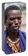 Maasai Man Portrait In Tanzania Portable Battery Charger