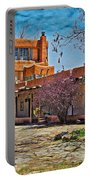 Mabel Dodge Luhan's Courtyard Portable Battery Charger