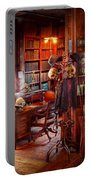 Macabre - In The Headhunters Study Portable Battery Charger by Mike Savad