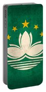 Macau Flag Vintage Distressed Finish Portable Battery Charger