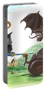 Macduff And The Dragon Portable Battery Charger by Margaryta Yermolayeva