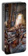 Machinist - Fire Department Lathe Portable Battery Charger by Mike Savad