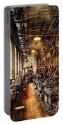 Machinist - Machine Shop Circa 1900's Portable Battery Charger by Mike Savad