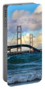 Mackinac Among The Waves Portable Battery Charger