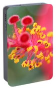 Macro Close Up Of Hibiscus Pollen  Portable Battery Charger