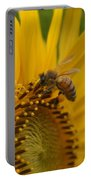 Macro Of Bee On Sunflower...   # Portable Battery Charger