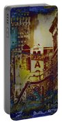 Macys Three - Neo-grundge - Famous Buildings And Landmarks Of New York City Portable Battery Charger