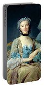 Madame De Sorquainville, 1749 Oil On Canvas Portable Battery Charger