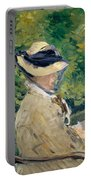 Madame Manet At Bellevue Portable Battery Charger