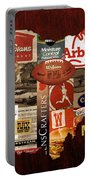 Made In Ohio Products Vintage Map On Wood Portable Battery Charger