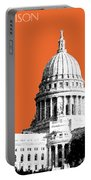 Madison Capital Building - Coral Portable Battery Charger