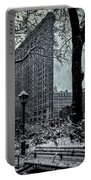 Madison Square And The Flatiron Building Portable Battery Charger