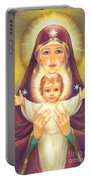 Madonna And Baby Jesus Portable Battery Charger by Zorina Baldescu