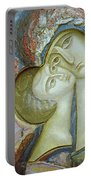 Madonna And Child Portable Battery Charger by Alek Rapoport