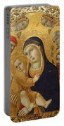 Madonna And Child With Saints Jerome John The Baptist Bernardino And Bartholomew Portable Battery Charger