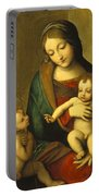 Madonna And Child With The Infant Saint John Portable Battery Charger by Antonio Allegri Correggio