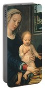 Madonna And Child With The Milk Soup Portable Battery Charger