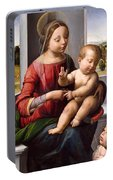 Madonna And Child With The Young Saint John The Baptist Portable Battery Charger