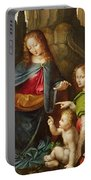 Madonna Of The Rocks Portable Battery Charger