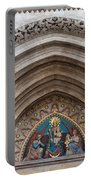 Madonna With Child On Matthias Church Tympanum Portable Battery Charger