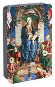 Madonna With The Child Enthroned  Portable Battery Charger