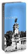 Madrid Skyline Retiro Park - Light Blue Portable Battery Charger