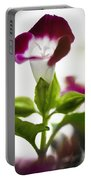Magenta Flower Portable Battery Charger