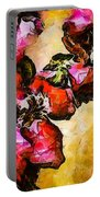 Magenta Flowers  -- Cubism Portable Battery Charger