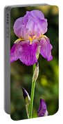 Magenta Iris Portable Battery Charger
