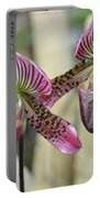 Magenta  Lady Slippers Portable Battery Charger