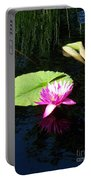 Magenta Lily Monet Portable Battery Charger