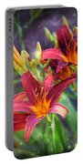 Magical Evening Daylilies Portable Battery Charger