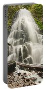Magical Falls - Fairy Falls In The Columbia River Gorge Area Of Oregon Portable Battery Charger