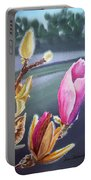 Magnolia Blossoms Portable Battery Charger