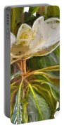 Magnolia White Portable Battery Charger
