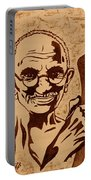 Mahatma Gandhi Coffee Painting Portable Battery Charger