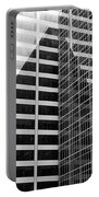 Mahnattan Architecture Black And White Portable Battery Charger